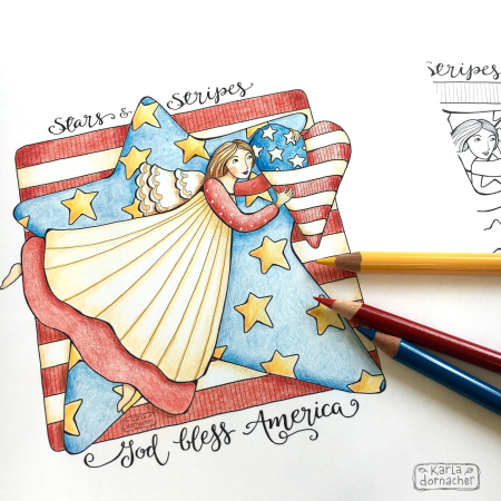 FREE Coloring Page with Color Pencil Video and Tips