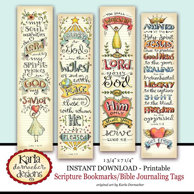 Luke 14 Full Color Printable Bookmarks