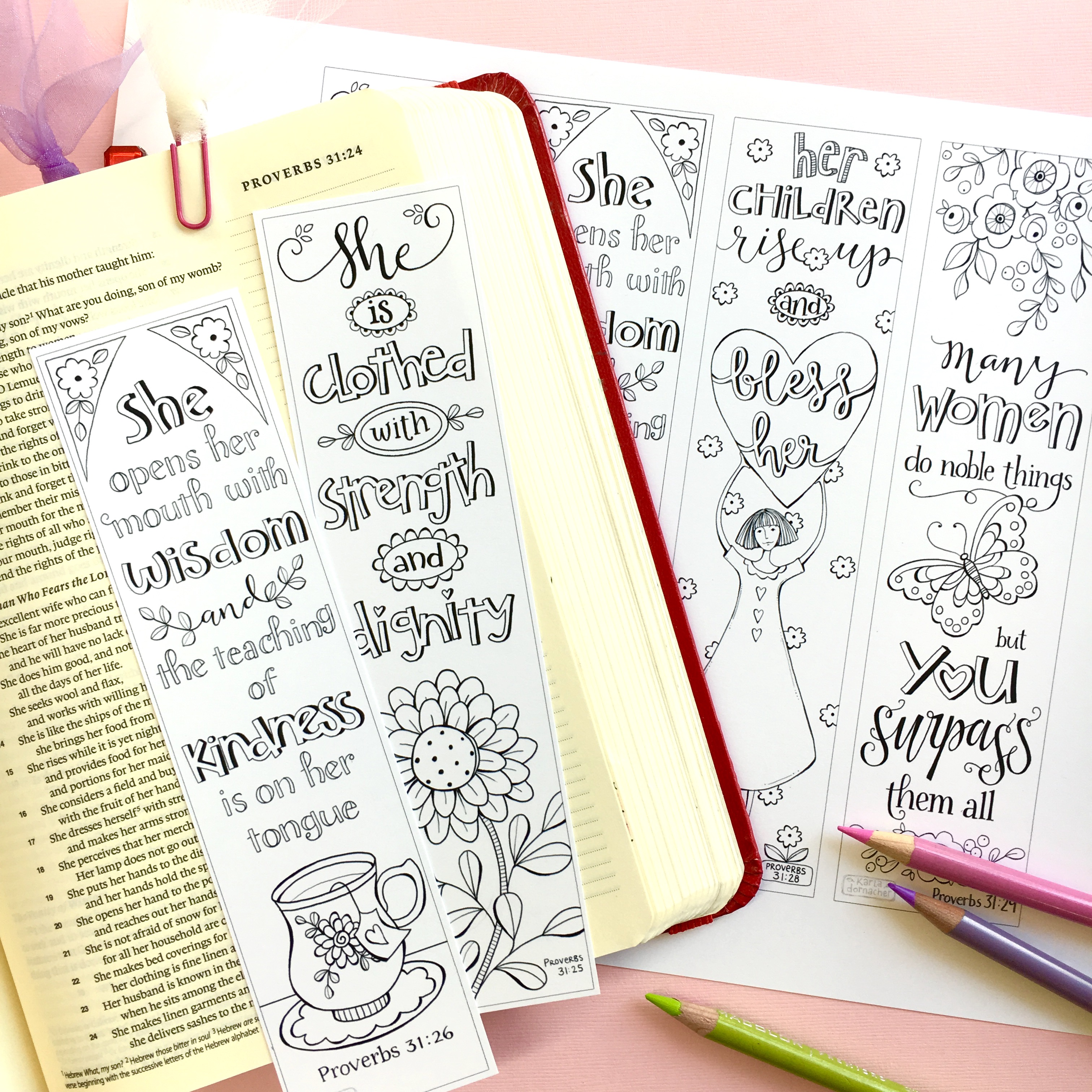 Proverbs 31 Godly Woman Mothers Day Color Your Own Bible ...