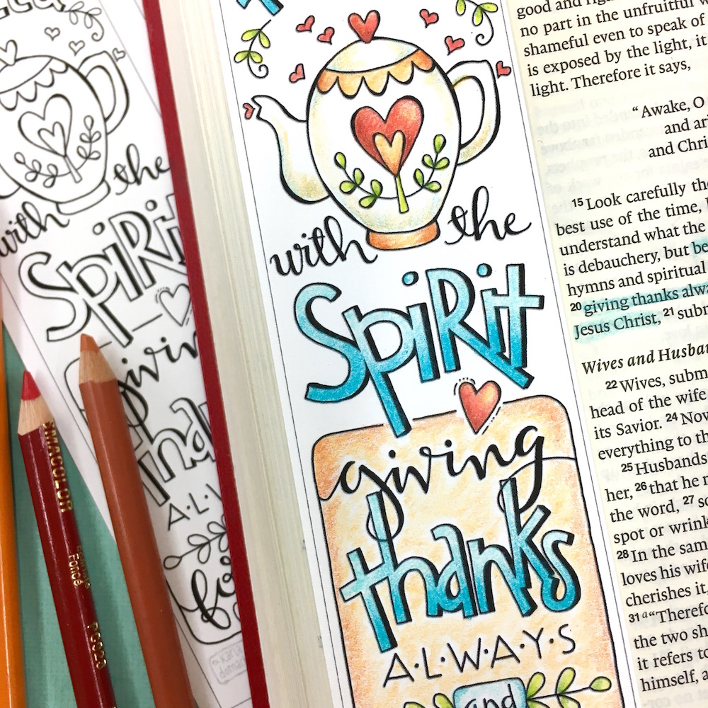 Be Filled With the Spirit – Colored Pencil Lettering Video